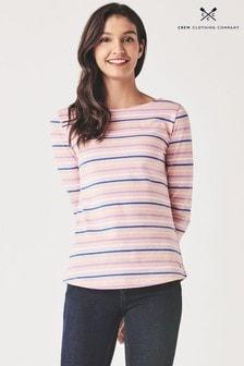 חולצתטי בייסיק שלCrewClothing דגםBreton בורוד