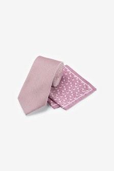 ワイドネクタイ&ポケットチーフ セット
