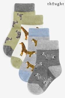 صندوق جوارب أطفال حيواناتZoological منThought