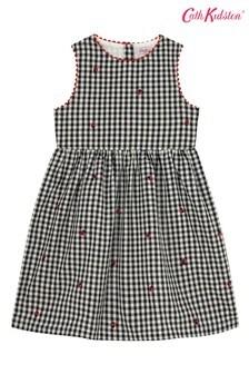 Cath Kidston® Charlotte Kleid mit Marienkäferstickerei und Vichykaros