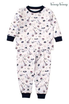 Пижамный комплект с космическим мотивом Kissy Kissy