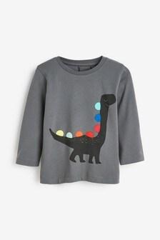 Трикотажная футболка с длинным рукавом и радужными шипами динозавра (3 мес.-7 лет)