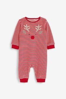 Спальный комбинезон с имитацией новогоднего костюма с оленем (0 мес. - 3 лет)