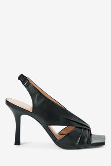 Signature Leather Twist Detail Sandals