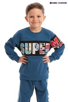 Fabric Flavours Superman Super Sweatshirt, Blau