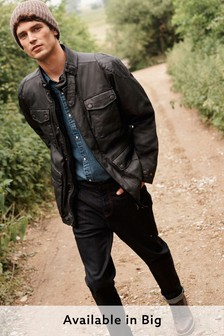 Four Pocket Biker Jacket With Heritage Check Lining (272346) | $118