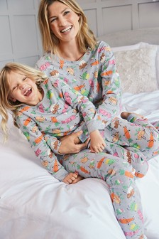 Matching Mother & Me Girls Christmas Dinner Pyjamas (9mths-16yrs)