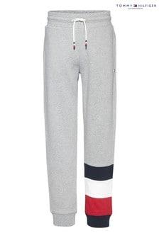 Tommy Hilfiger Grey Global Stripe Colourblock Sweat Pants