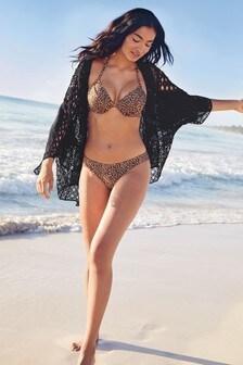 Usztywniony top od bikini z fiszbinami