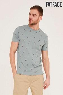 FatFace Green Parrot Printed T-Shirt