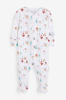 Пижама изсертифицированного органического хлопка GOTS с рождественским принтом (0 мес. - 2 лет)