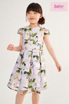 فستان بناتي زهور مقلم منBaker by Ted Baker
