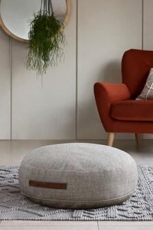 Chunky Weave Floor Cushion With Handle