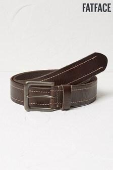 FatFace Brown Stitch Italian Leather Belt