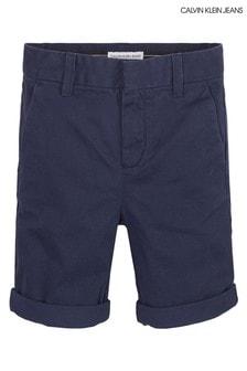 Calvin Klein Slim Fit Chinoshorts, Blau