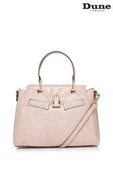 Dune London Pink Darryyl Padlock Tote Bag