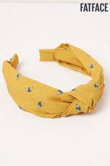 FatFace Yellow Bee Spot Headband