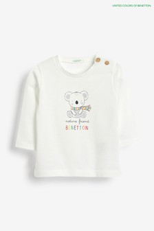 Benetton Langärmeliges T-Shirt mit Figurenmotiv