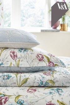 V&A Decke mit Frühlingstulpen-Print