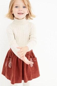 تنورة كوردروي عليها شخصية (3 شهور -7 سنوات)