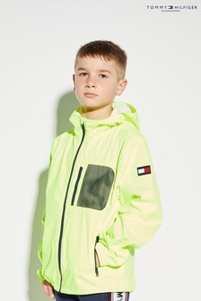 Tommy Hilfiger - Giacca impermeabile giallo fluo
