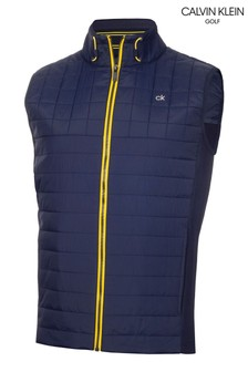 Calvin Klein Golf 藍色Vardon混搭材質背心