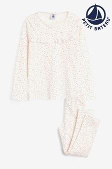 Petit Bateau White Polka Dot Pyjamas