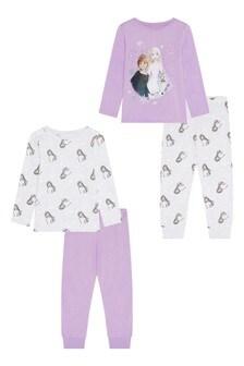 F&F Lilac 23 Disney™ Frozen Pyjamas Two Pack