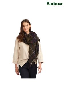 Barbour® Green Classic Tartan Hailes Signature Scarf