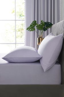 Lilac Easy Care Polycotton Fitted Sheet