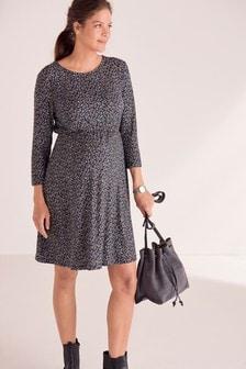 Короткое приталенное платье для беременных