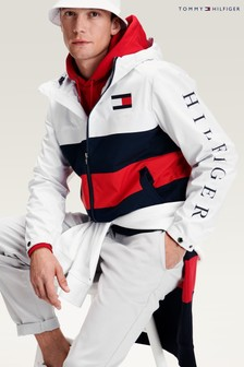 Tommy Hilfiger White Colourblock Hooded Jacket