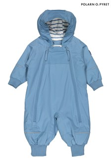 Polarn O. Pyret Blue Waterproof Shell Overalls