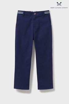 Pantalon chino Crew Clothing Company coupe slim bleu