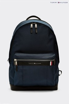 Tommy Hilfiger Blue Elevated Nylon Backpack