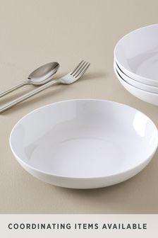 White Nova Set of 4 Pasta Bowls