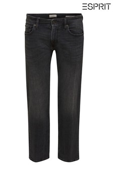 Esprit Black Straight Fit Denim Jeans
