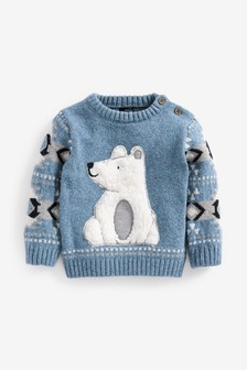 Cosy Polar Bear Jumper (3mths-7yrs)