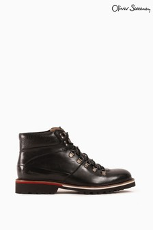 Oliver Sweeney Black Calf Leather Boots