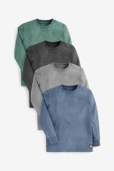 4 Pack Long Sleeve T-Shirts (3-16yrs)