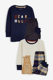 2 Pack Check Pyjamas (9mths-8yrs)