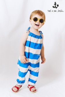 Noé & Zoë Blue Striped Romper