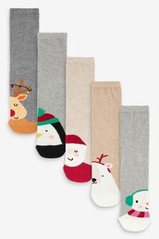Christmas Split Character Ankle Socks 5 Pack