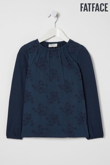 FatFace Blue Embroidered T-Shirt