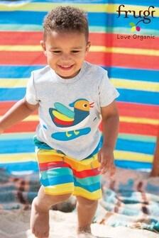 Frugi - GOTS - Shorts a righe con arcobaleno in tessuto bio