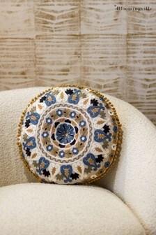 Bloomingville Blue Cotton Cushion
