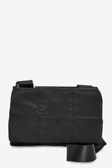 Нейлоновая стеганая сумка с длинным ремешком