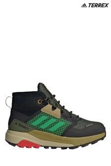 adidas Terrex Khaki Trailmaker Junior és Ifjúsági Mid Boots