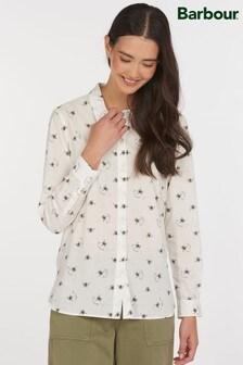 Barbour® Coastal White Bee Print Safari Shirt
