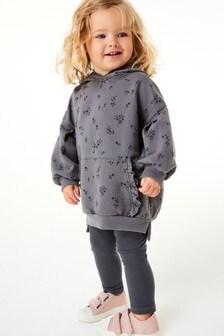 Completo felpa con cappuccio e leggings (3 mesi - 7 anni)
